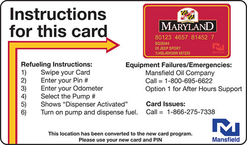 Fuel Card Instructions Image